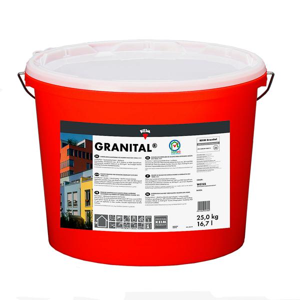 pintura de silicato para exterior-pintura mineral para fachadas Keim Granital