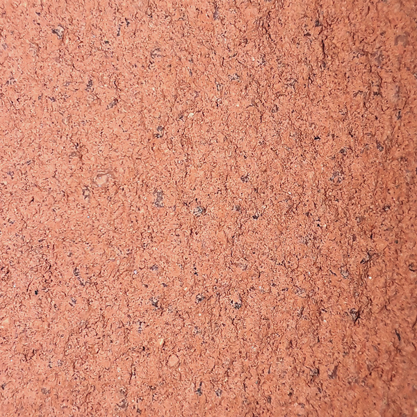 Foto de revoco de cal color teja